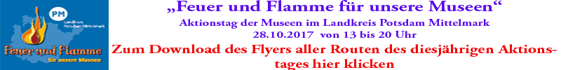 Flyer aller Veranstaltungsrouten Feuer und Flamme 2017